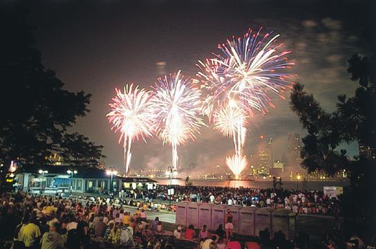 Detroit/Windsor Fireworks