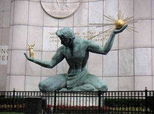 The Spirit of Detroit Image Source: https://www.flickr.com/photos/wurzle/619131